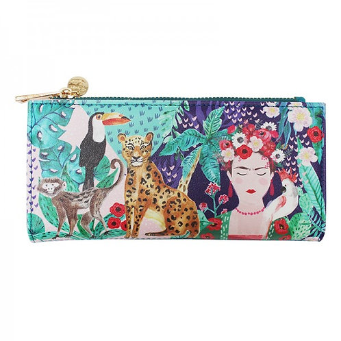 Frida Wallet with Tropical print