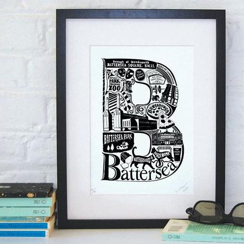 B is for Battersea Framed Print