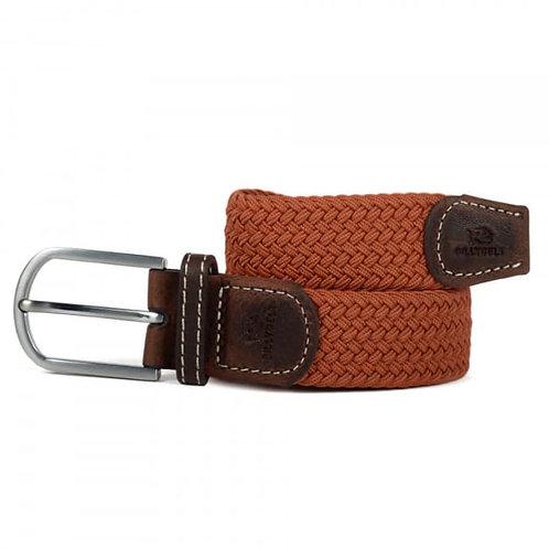Elastic Woven Belt -Terracotta