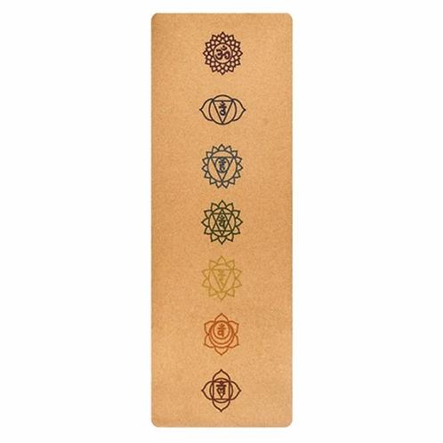 Cork Yoga Mat with Chakra print