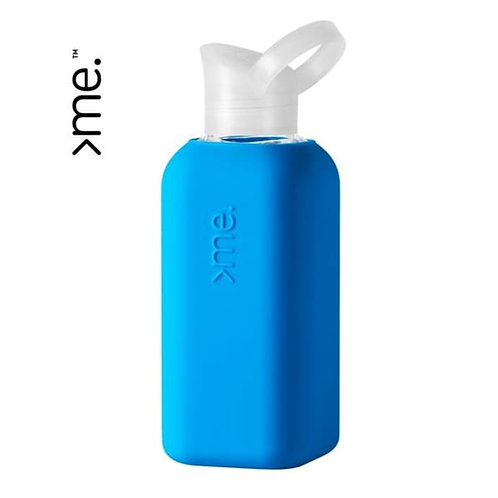 Recycled Glass Water Bottle - Blue