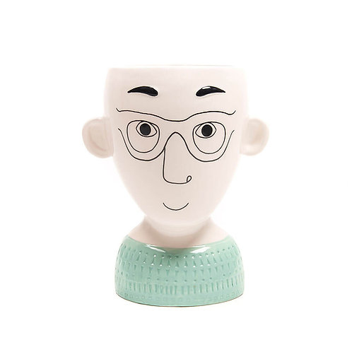 Doodle Man with Glasses Vases