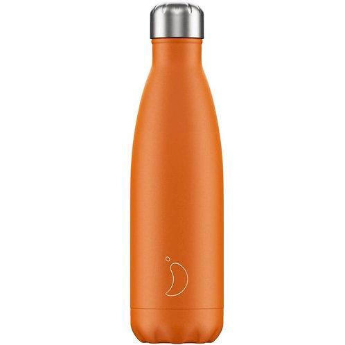 Chilly's Burnt Orange Matte Edition Water Bottle 500ml
