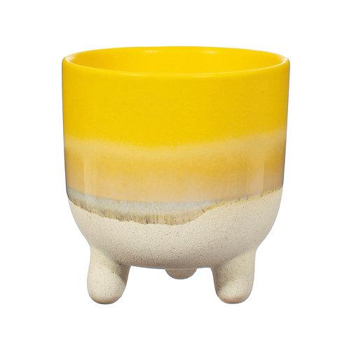 Mojave glaze flower pot Yellow