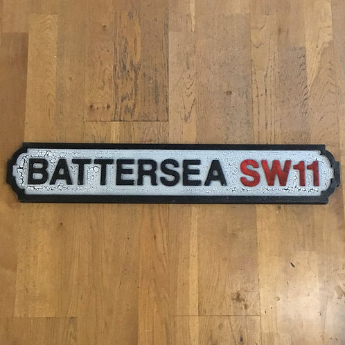 Battersea SW11 (Red) Road Sign