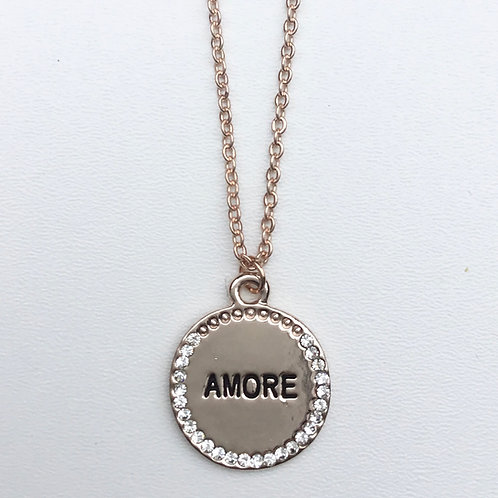 Amore Necklace - Rose Gold