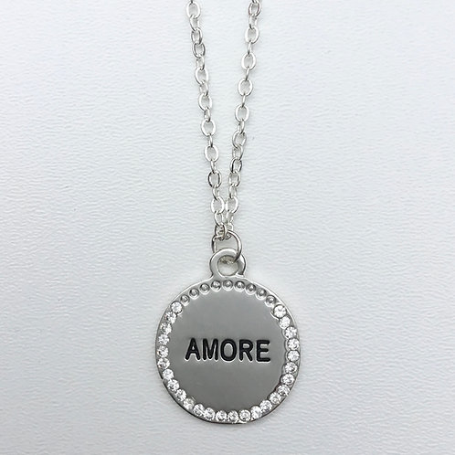 Amore Necklace - Silver