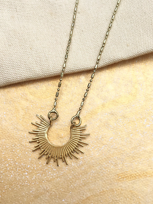 Gold Ray of Sunshine Necklace