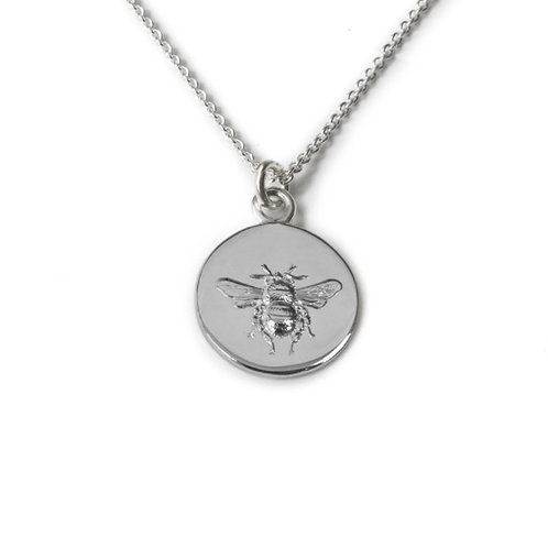 Busy Bee Silver Necklace