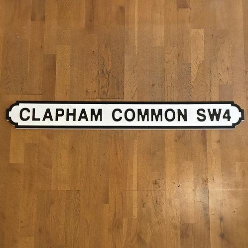 Clapham Common Road Sign