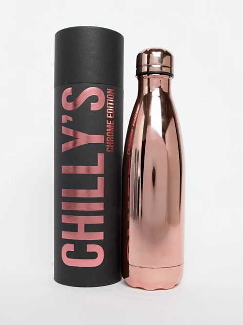 Chilly's Rose Gold Water Bottle