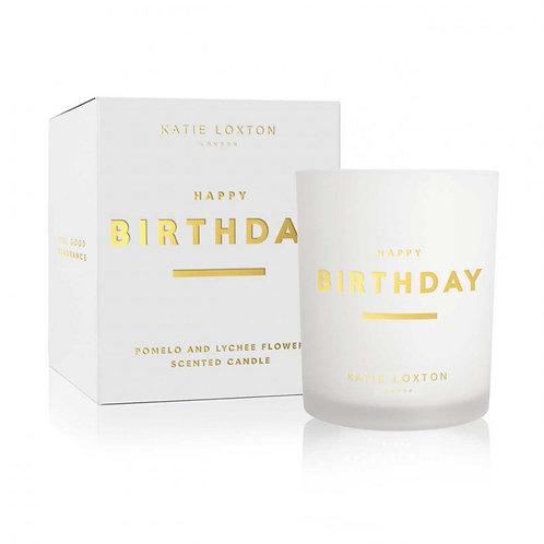 Katie Loxton Sentiment Candle - Burthday