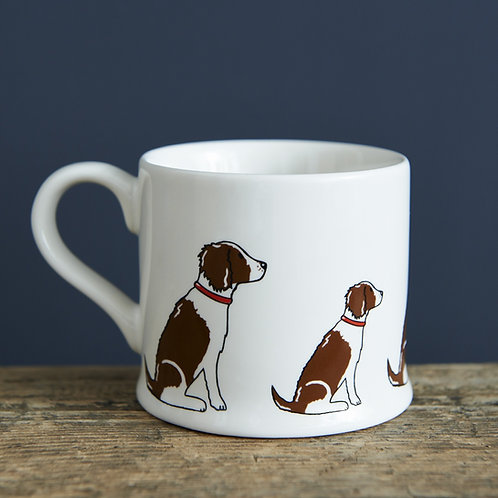 Springer Spaniel Liver/White Mug