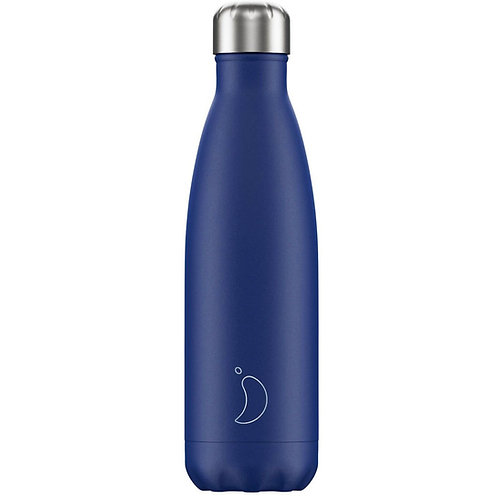 Chilly's Blue Matte Edition Water Bottle 500ml