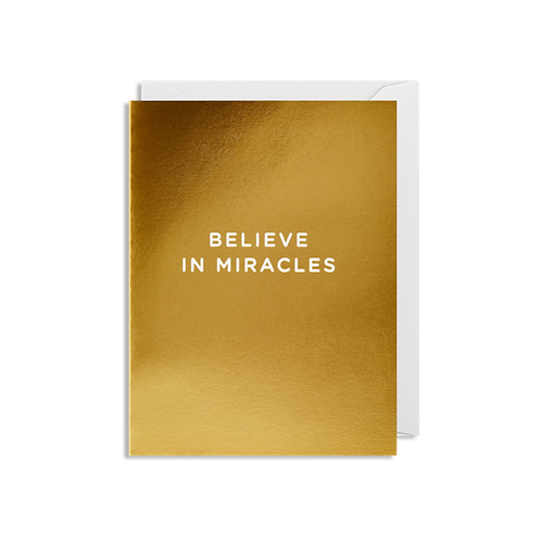 Believe In Miracles - Mini Card