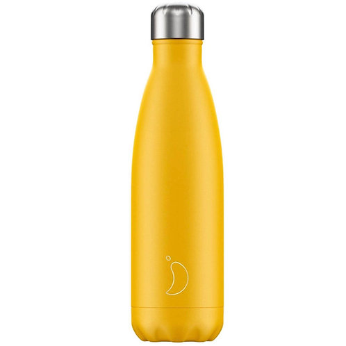 Chilly's Burnt Yellow Matte Edition Water Bottle 500ml