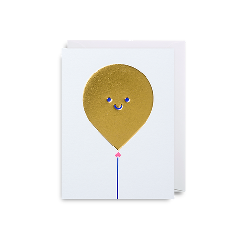 Gold Balloon - Mini Card