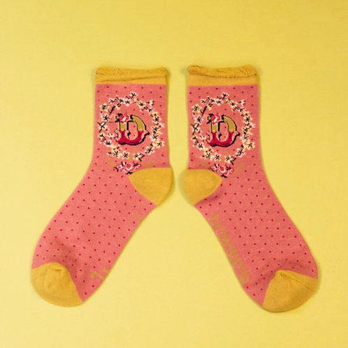 Monogram Socks - D