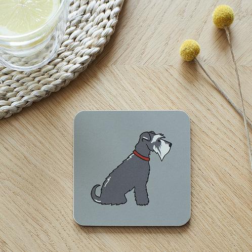 Schnauzer Grey Coaster