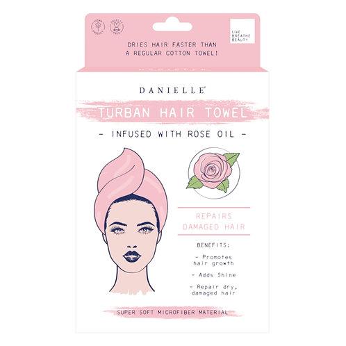 Turban Hair Towel - Rose Oil