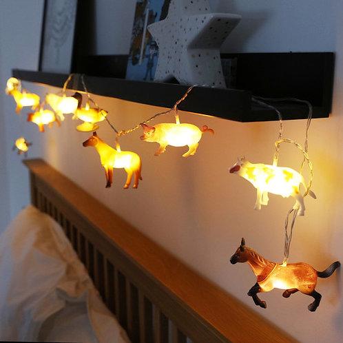 String Lights - Farm Animals