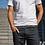 Thumbnail: Elastic Woven Belt - Flannel Grey