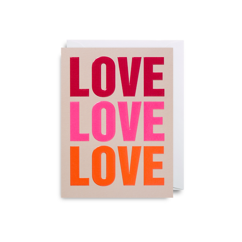 Love Love Love - Mini Card