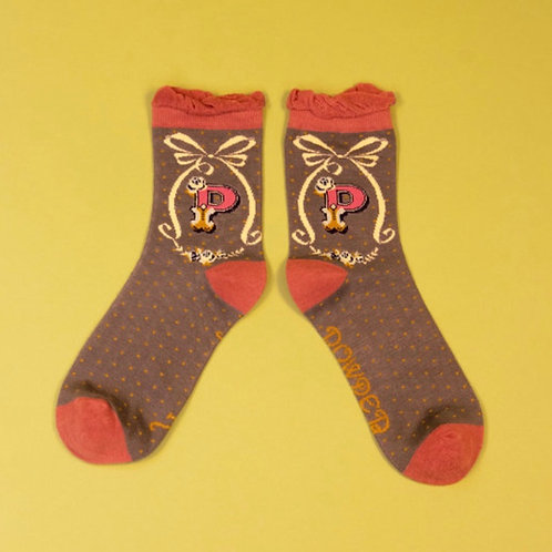 Monogram Socks - P