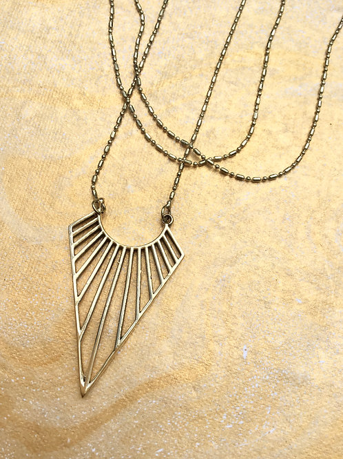 Gold Dream Catcher Necklace