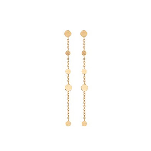 Mini Coin Earrings Gold