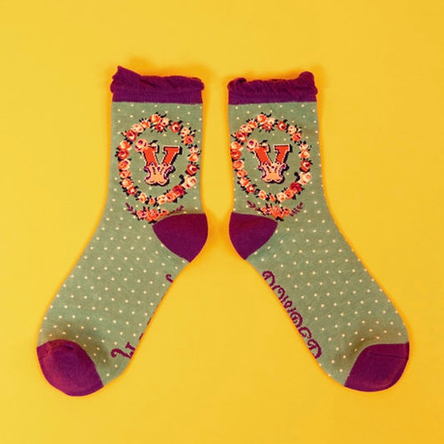 Monogram Socks - V