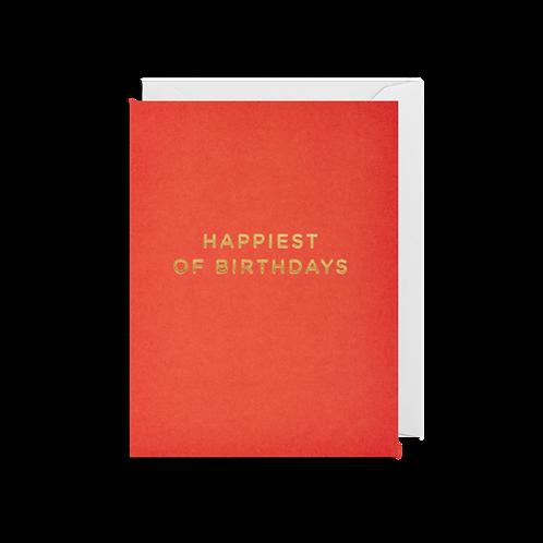 Happiest Of Birthdays - Mini Card