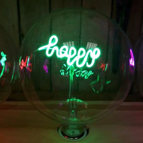 Message in a Bulb - Happy Table lamp