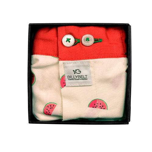 Organic Cotton Boxer Shorts - Watermelon