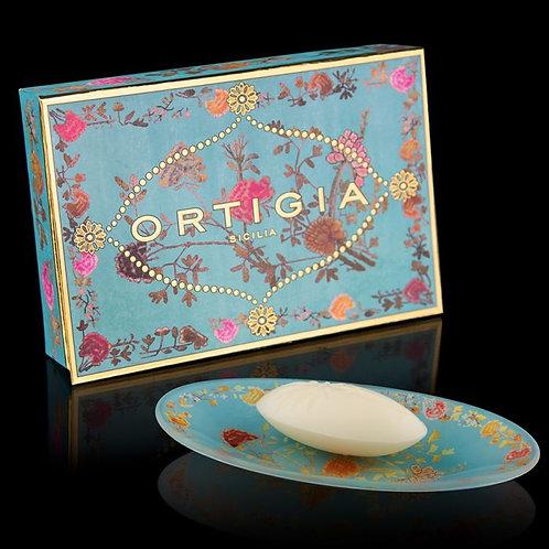 Ortigia Glass Plate and Soap 40g - Florio