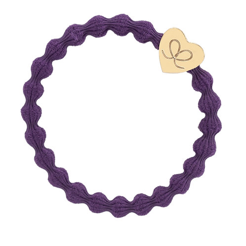 Gold Heart Purple Bangle Band