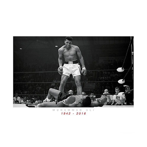 Muhammad Ali vs Liston Commemorative Framed Print