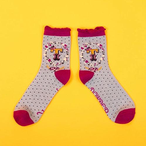 Monogram Socks - T