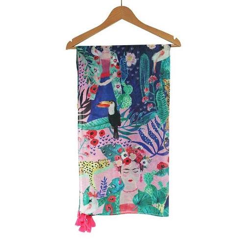 Frida Scarf Tropical Print