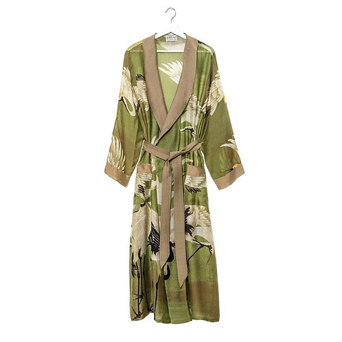 Stork Dressing Gown Green