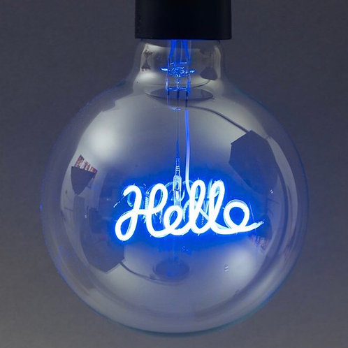 Message in a Bulb - Hello Pendant