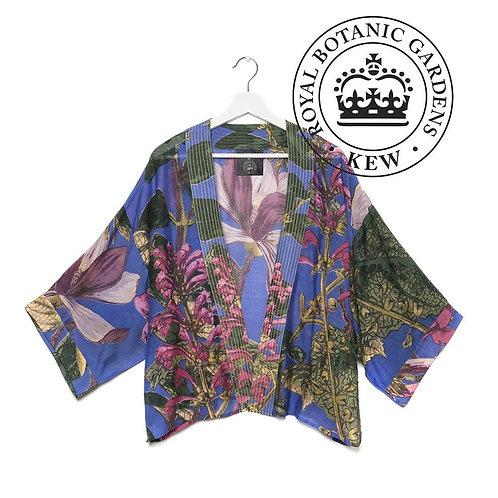 Magnolia Flower Purple Mini Kimono