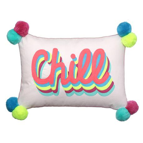Chill Cushion with PomPoms