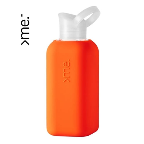 Recycled Glass Water Bottle - Coral
