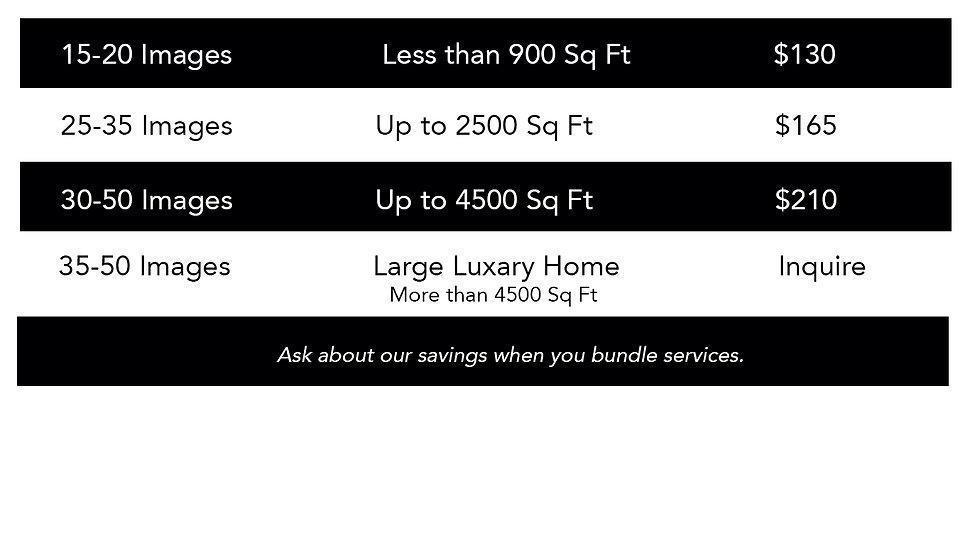 real estate photos price