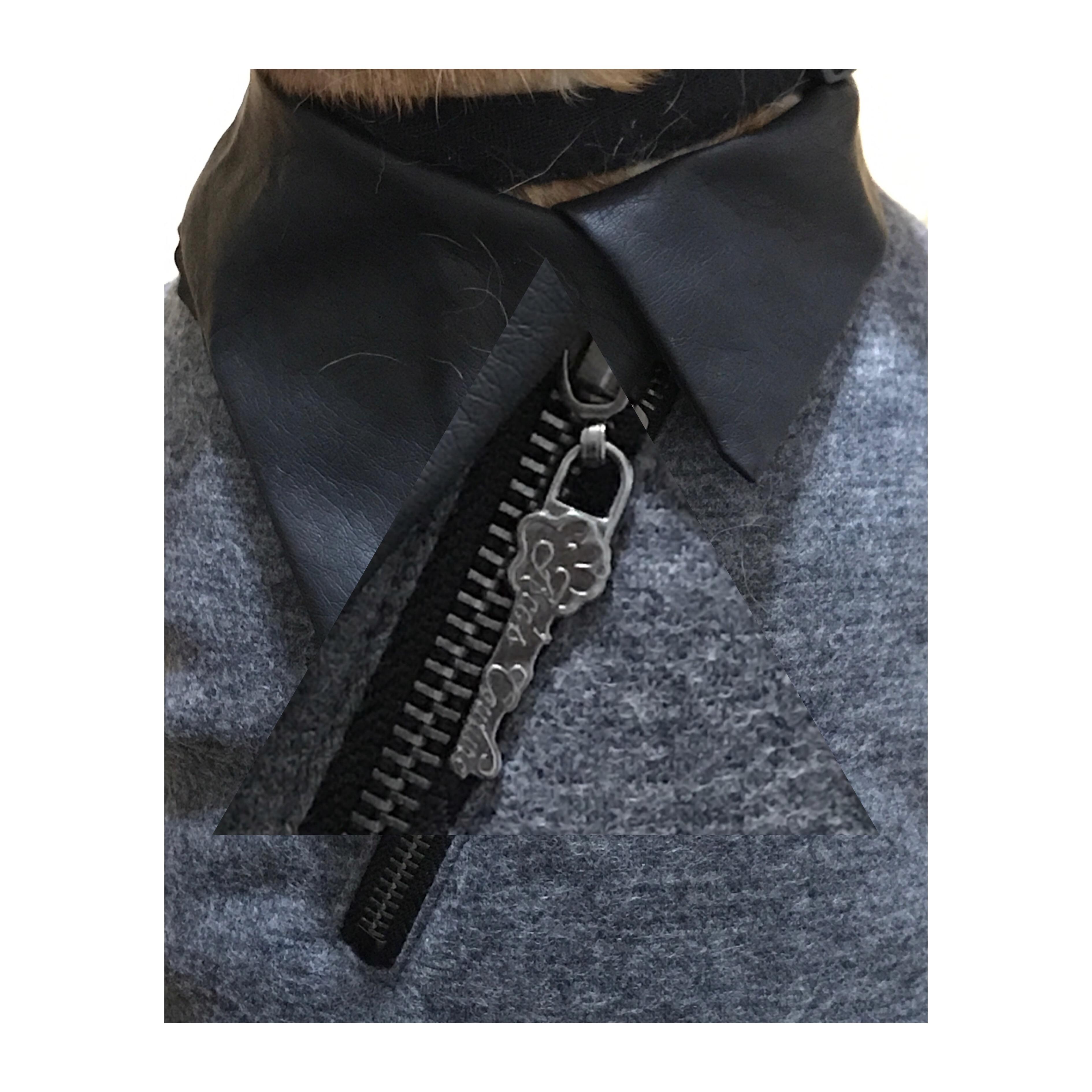 Collar Jacket Gunmetal Zipper
