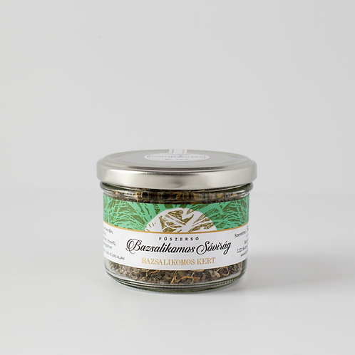 Flower of salt with basil 150g / in a bottle