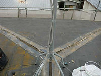 屋根葺き替え工事の施工例(施工中)