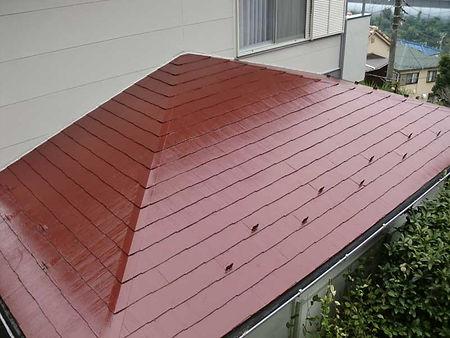 屋根塗装の施工例(施工後)