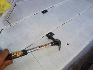 カラーベスト屋根塗装の施工の流れ(タスペーサー装着)